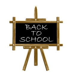 Back to school easel board vector