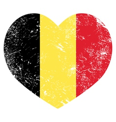 Belgium heart retro flag vector image