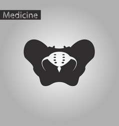 Black and white style icon of pelvic bones vector
