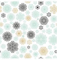 christmas and new year seamless pattern eps 10 vector image