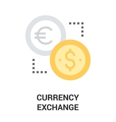 Currency exchange icon concept vector