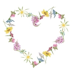 Floral heart sketch for your design vector