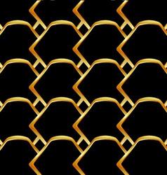Golden honey cell background vector