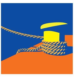 Knecht and mooring ropes vector image vector image