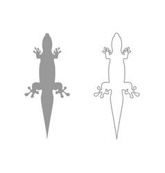 Lizard set icon vector