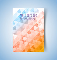 multipurpose layout design2 vector image vector image