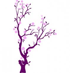 oriental cherry vector image vector image