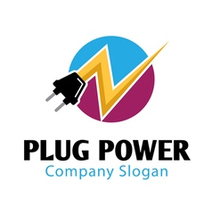 Plug power design vector