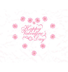 Postcard in honor of valentine s day vector