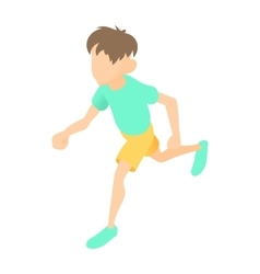 Runner icon cartoon style vector image