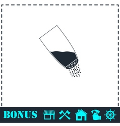 Salt icon flat vector image vector image