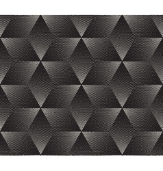 Seamless black and white stippling halftone vector