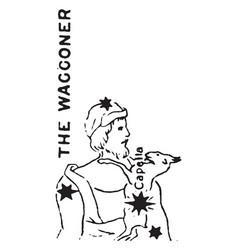The waggoner vintage vector