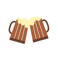 Two glasses or beer mugs vector image vector image