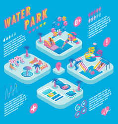 water park isometric infographics vector image