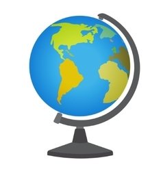 School desktop globe vector