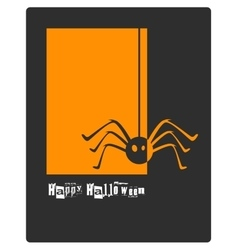 Halloween spider concept card or banner vector