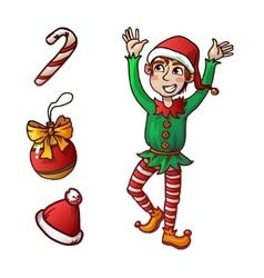 Funny Cute Reindeer Christmas vector image