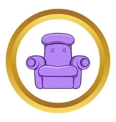 Easy armchair icon cartoon style vector