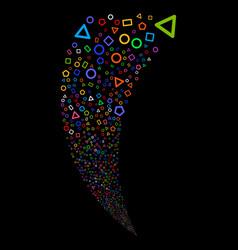 Geometric shapes random stream vector