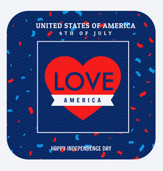 Love america celebration background vector
