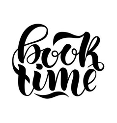 Book time inspirational and motivational quotes vector