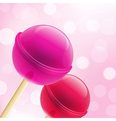 Sweet lollipops vector