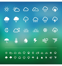 Retina weather icon set vector