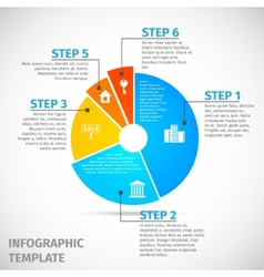 Pie chart real estate infographic vector