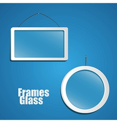 Set of glass frame suspended from a rope isolated vector