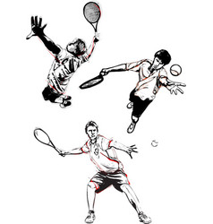 Tennis trio vector