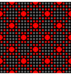 Seamless geometric abstract polka dot pattern vector