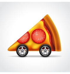 Pizza delivery concept vector