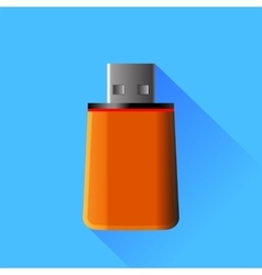 Orange memory stick vector