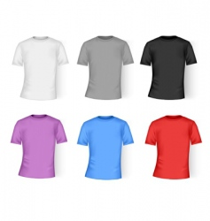 Color and white t-shirt design vector