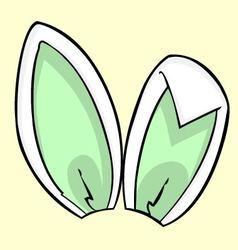 green bunny ears vector image