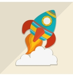 Rocket icon design vector