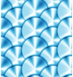 Seamless pattern with metallic circles vector