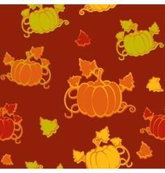 Autumn seamless pattern with pumpkin vector