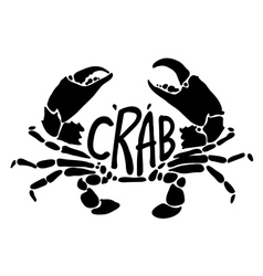 Black crab vector
