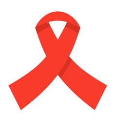 Awareness ribbon icon vector