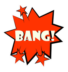 Bang explosion sound effect icon cartoon style vector