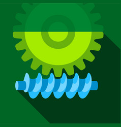 Big gear icon flat style vector