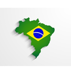 Brazil map with shadow effect vector image vector image