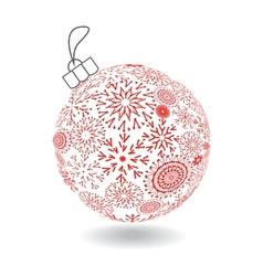 Christmas Ball Of Made Snowflakes vector image