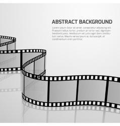cinema movie background with retro film vector image