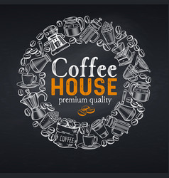 Coffee house page vector
