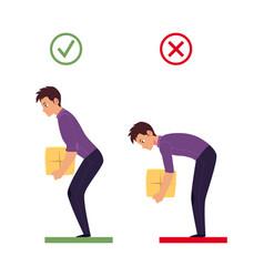 Correct incorrect back lifting weight vector
