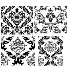damask patterns vector image vector image