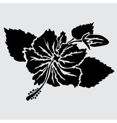Decorative hibiscus vector